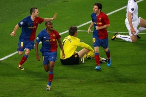 Eto'o's goal celebration