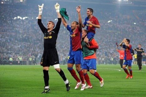 The celebration begin!!!!!!!!!!!! - Congratulations Barcelona!!!!
